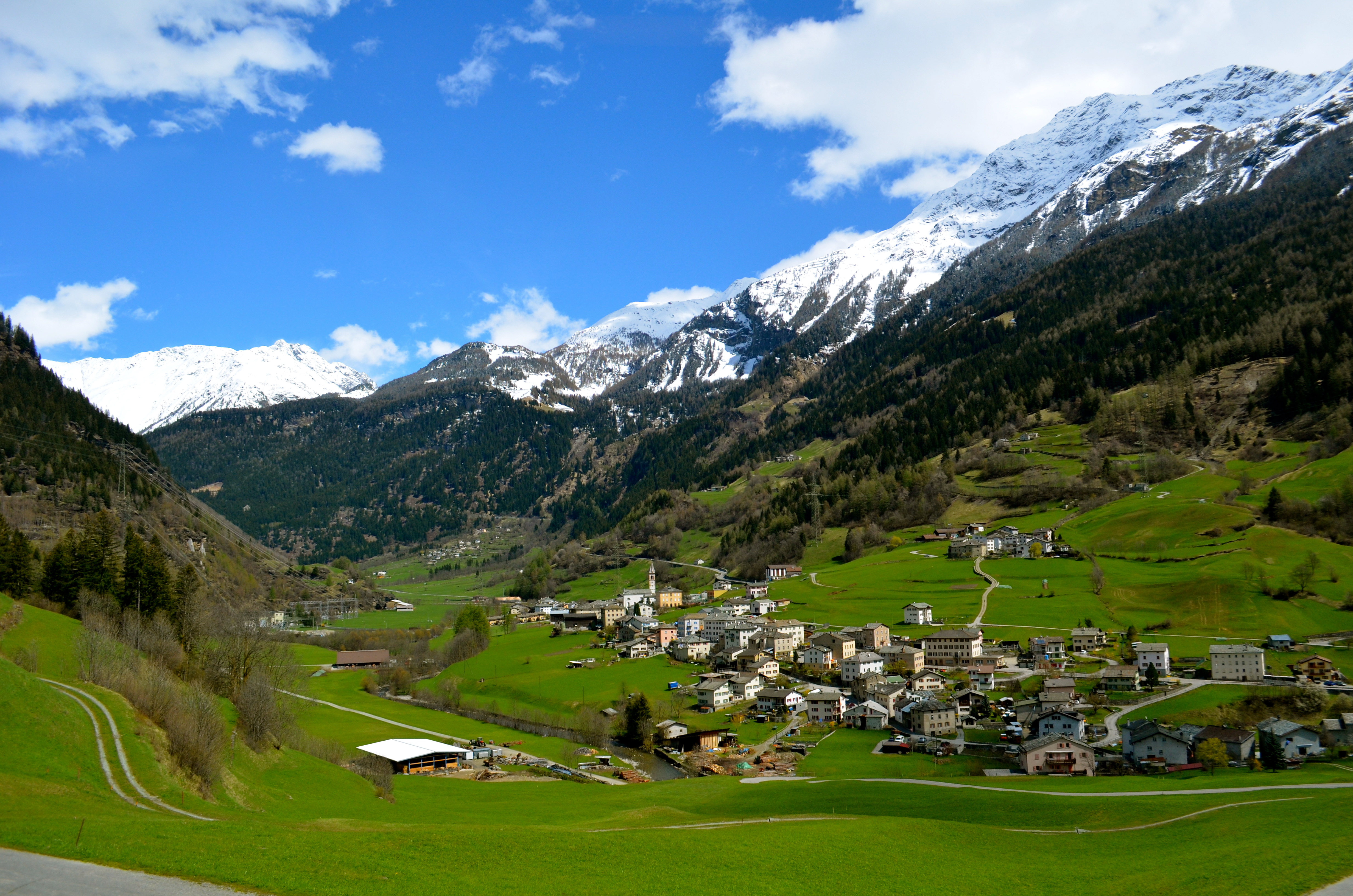 The bernina express out of the alps and into sunny italy for Green italy